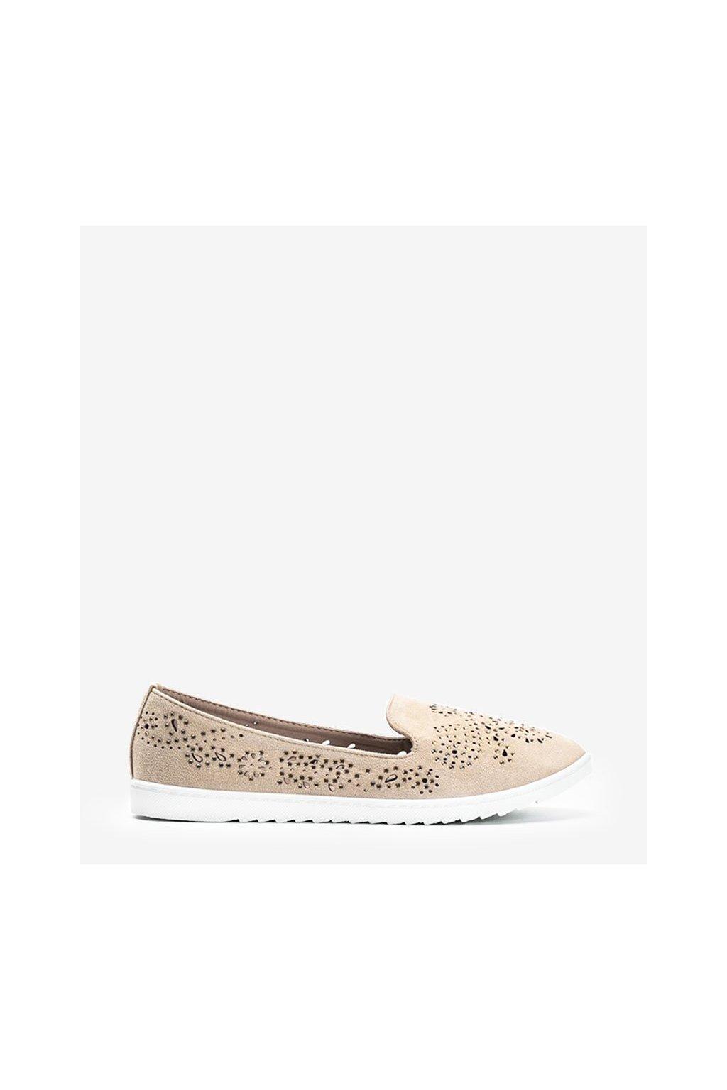Dámske topánky mokasíny hnedé kód DY-09 - GM