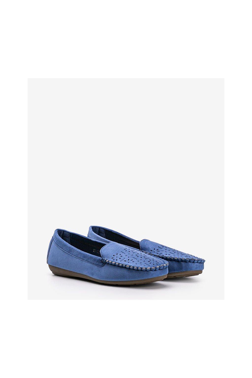 Dámske topánky mokasíny modré kód 1R6-18 - GM