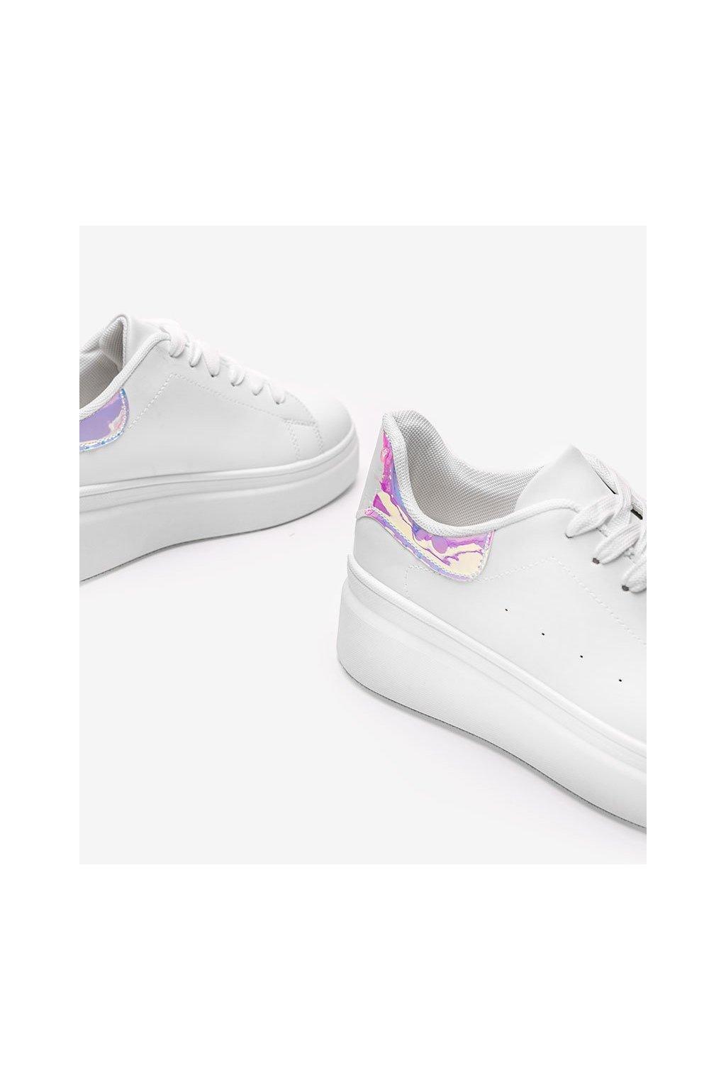 Dámske topánky tenisky biele kód LA36 - GM