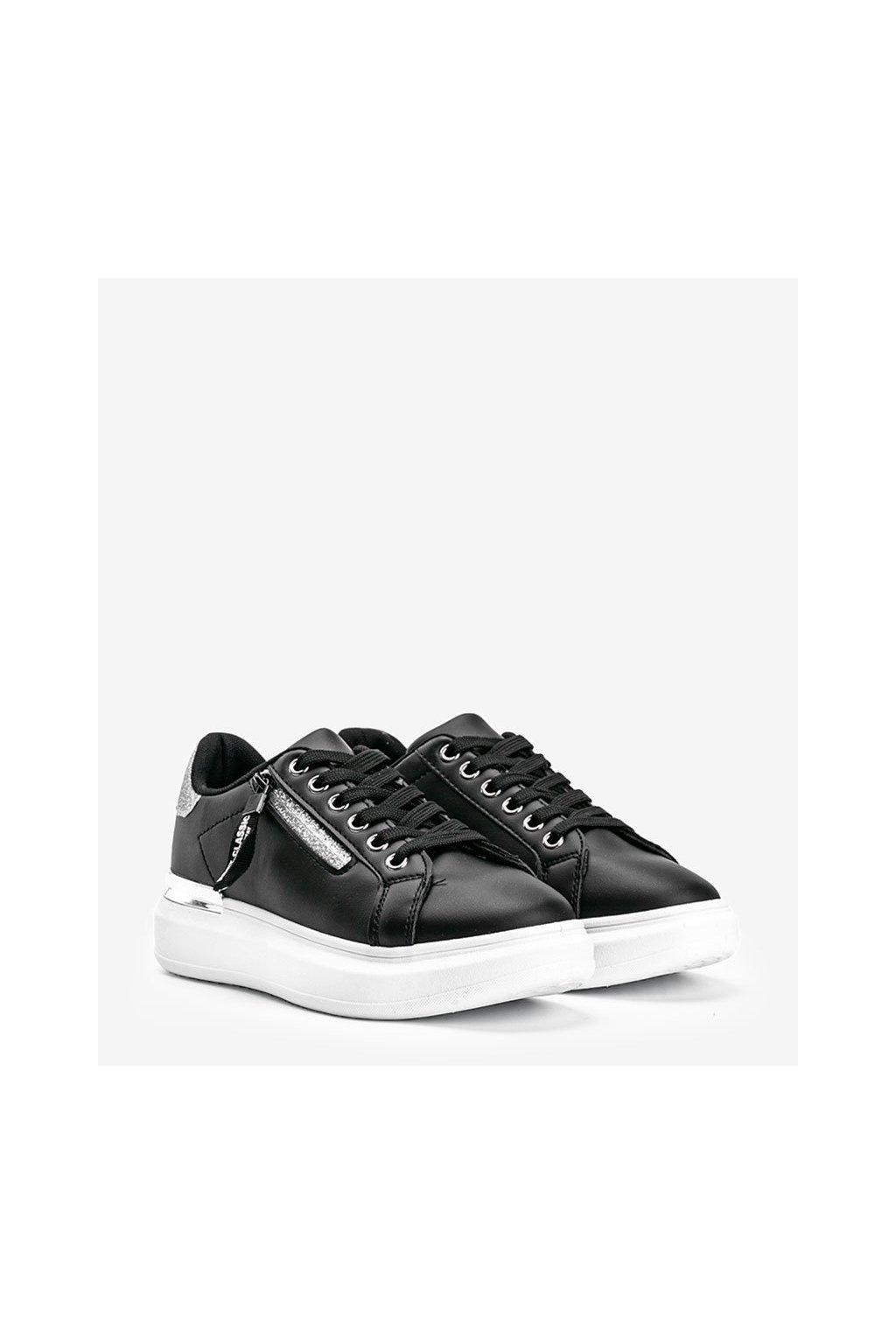Dámske topánky tenisky čierne kód F006 - GM
