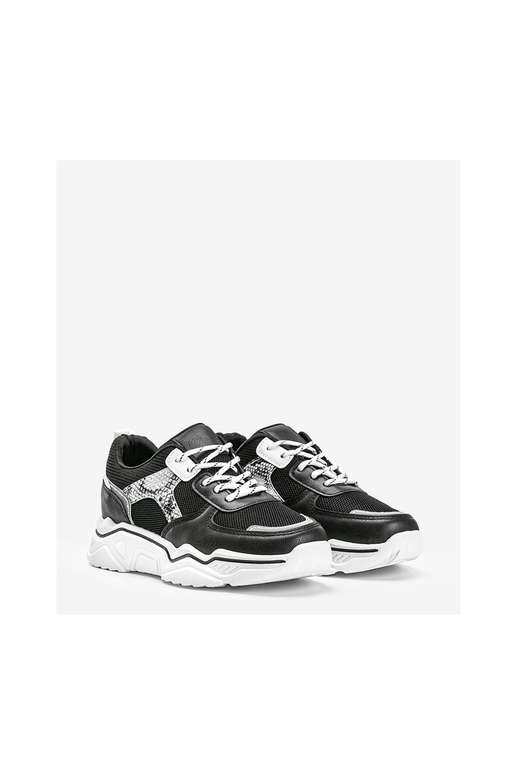 Dámske topánky tenisky čierne kód H99-55 - GM