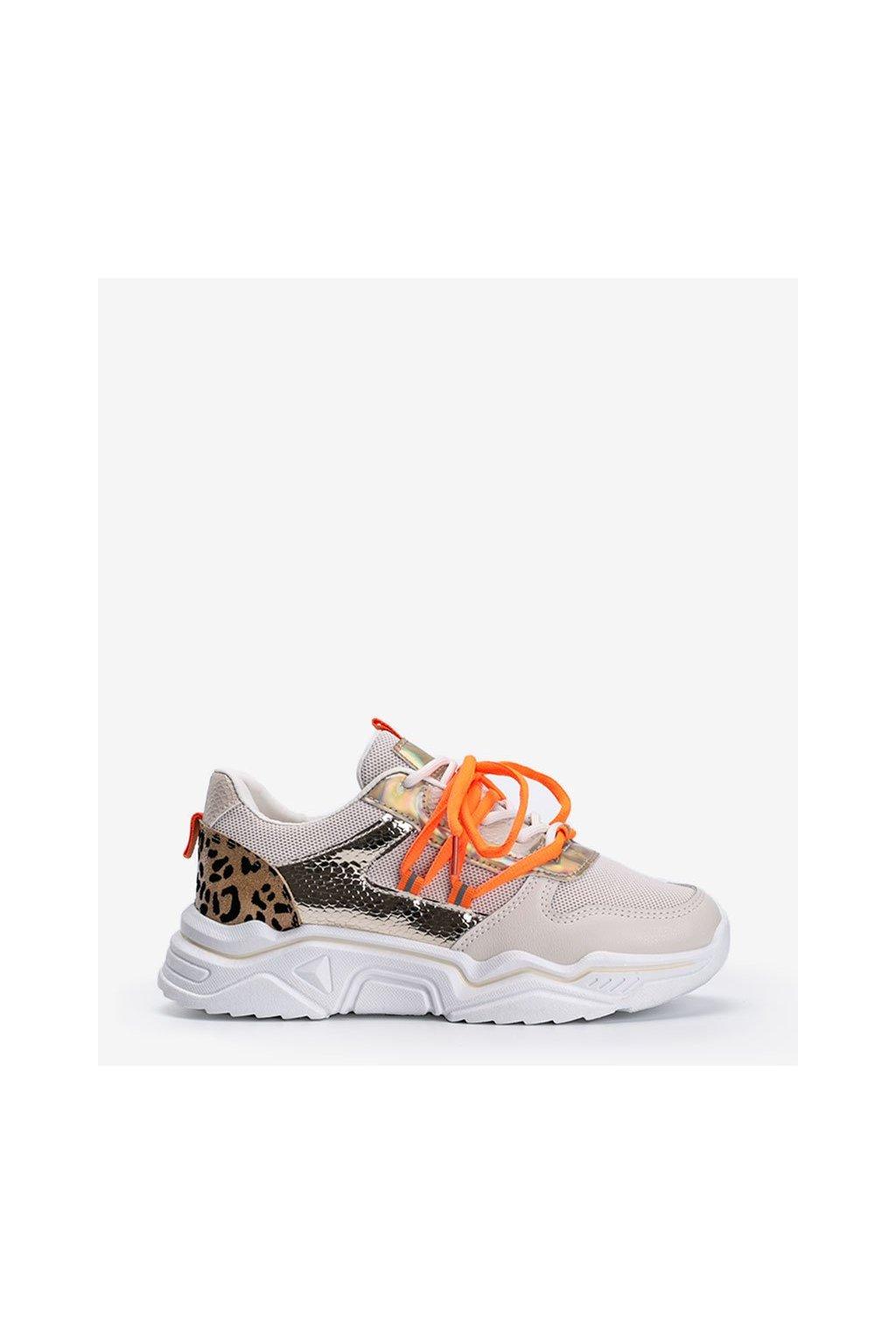 Dámske topánky tenisky hnedé kód H99-65 - GM
