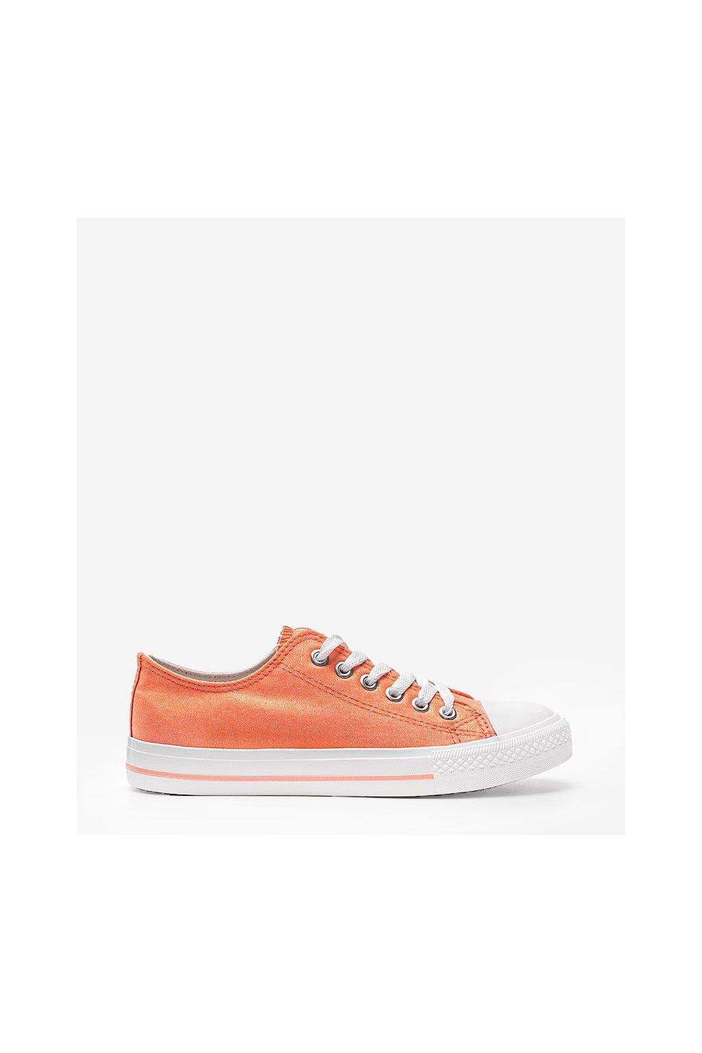 Dámske topánky tenisky oranžové kód YL-20 - GM