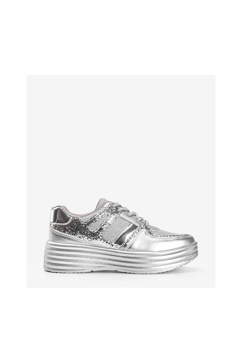 Dámske topánky tenisky sivé kód MD239-1 - GM