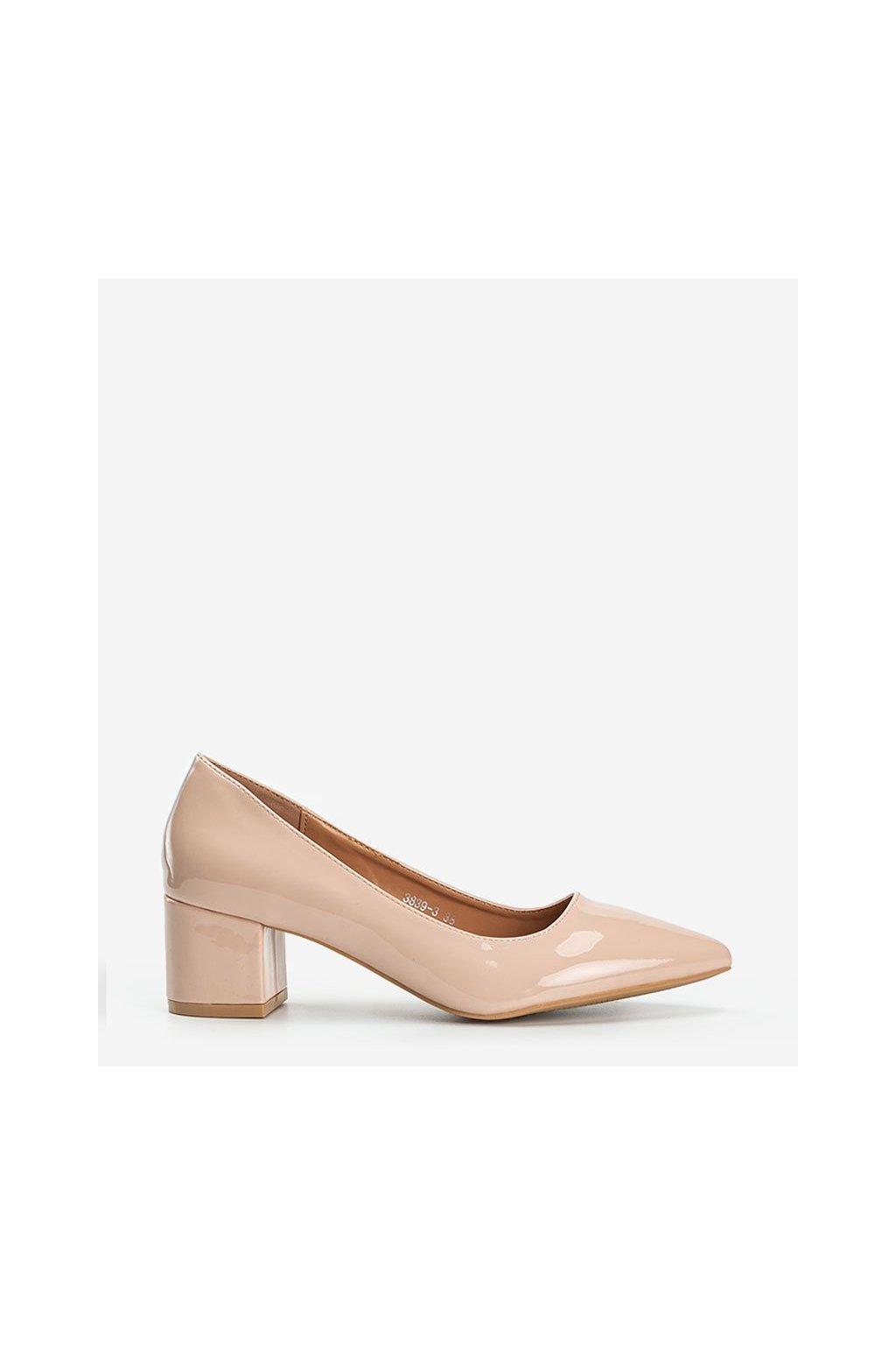 Dámske topánky lodičky hnedé kód 3839-3 - GM