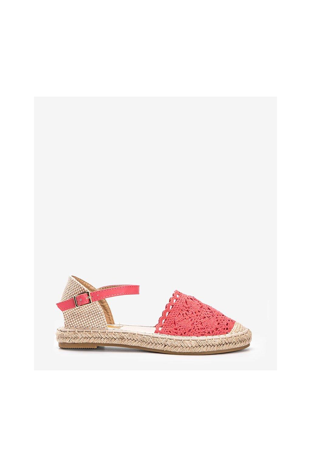 Dámske topánky espadrilky červené kód LX201 - GM