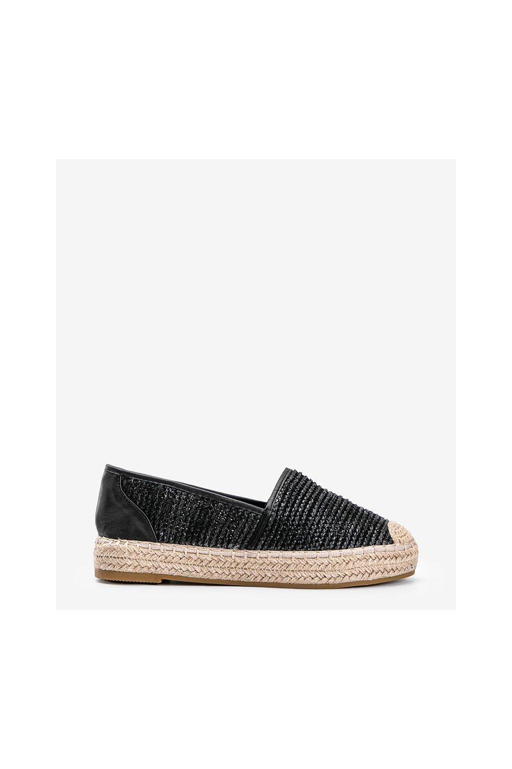 Dámske topánky espadrilky čierne kód 4620 - GM