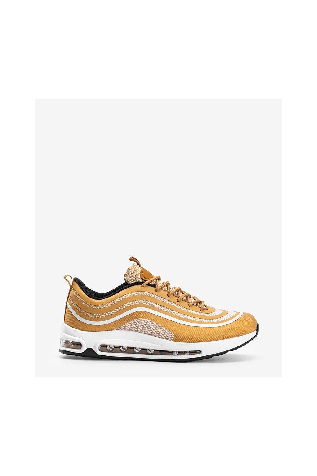 Pánske topánky tenisky žlté kód M3239-16 - GM