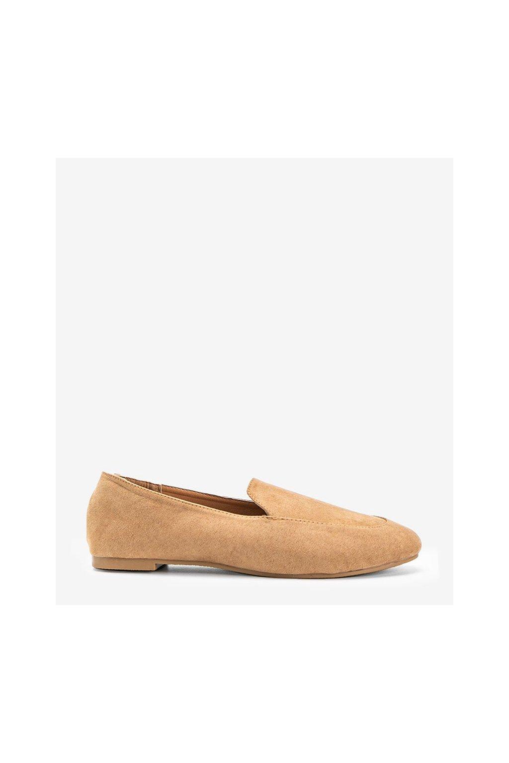 Dámske topánky mokasíny hnedé kód HL-14 - GM