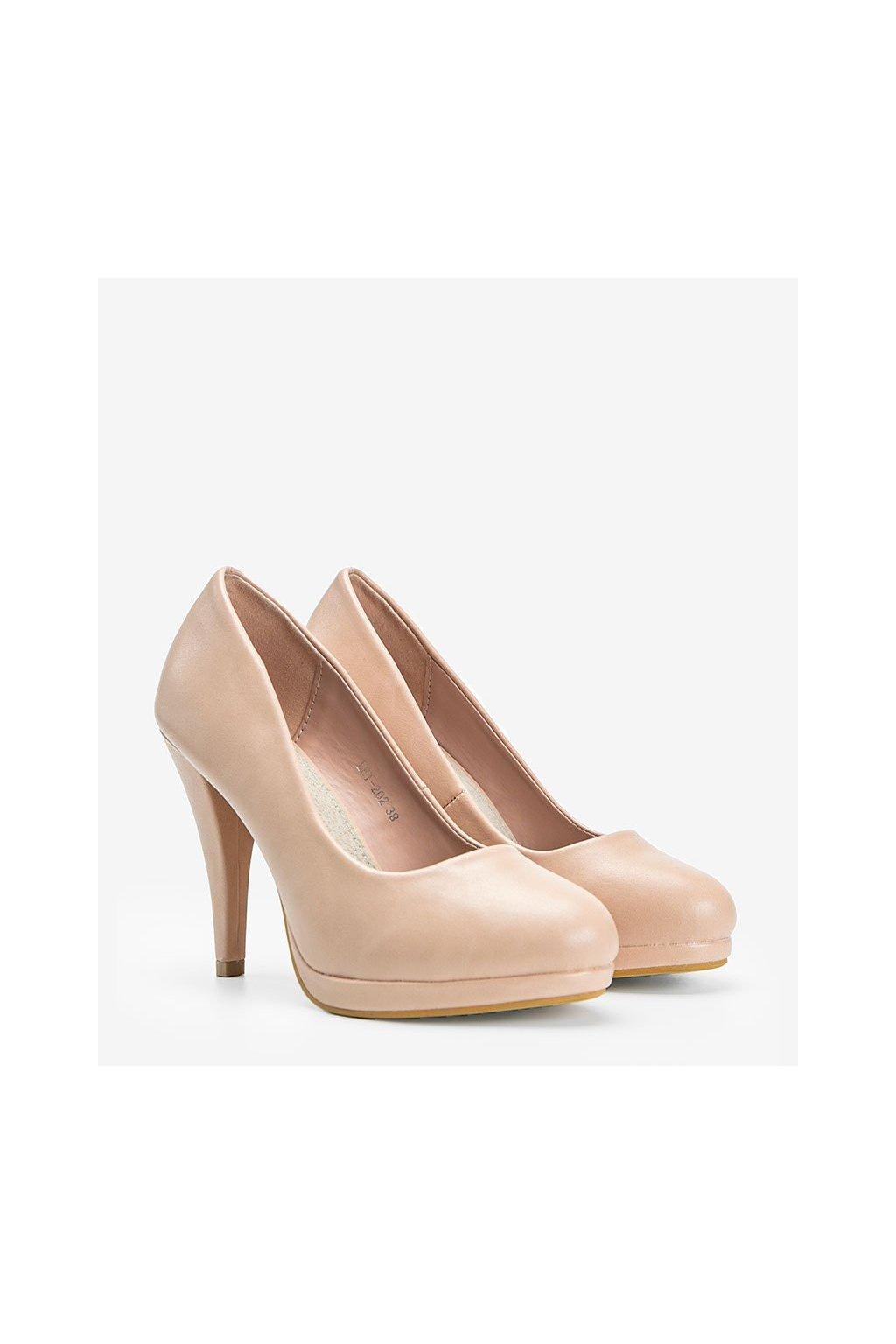 Dámske topánky lodičky ružové kód LEI-202 - GM