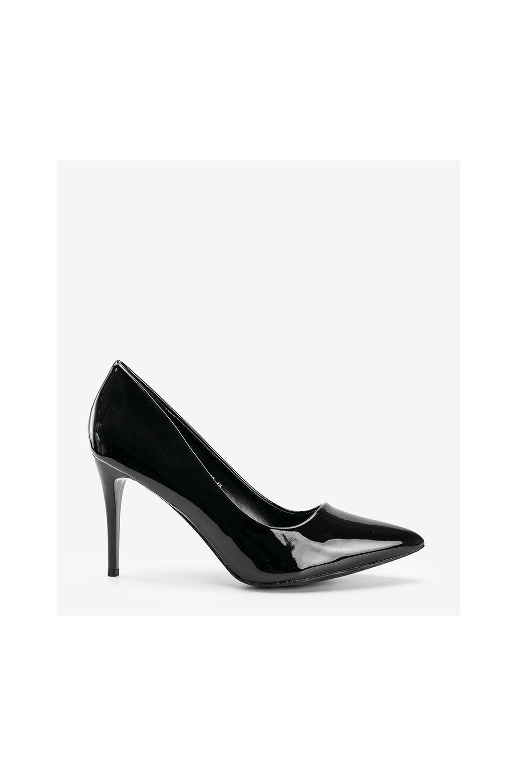 Dámske topánky lodičky čierne kód 3963 - GM