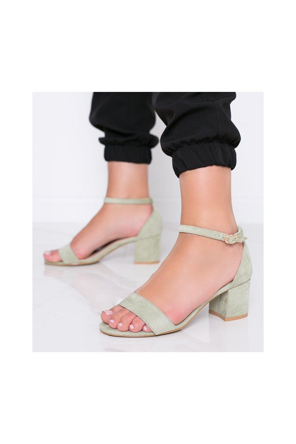 Dámske topánky sandále zelené kód 99-36A - GM