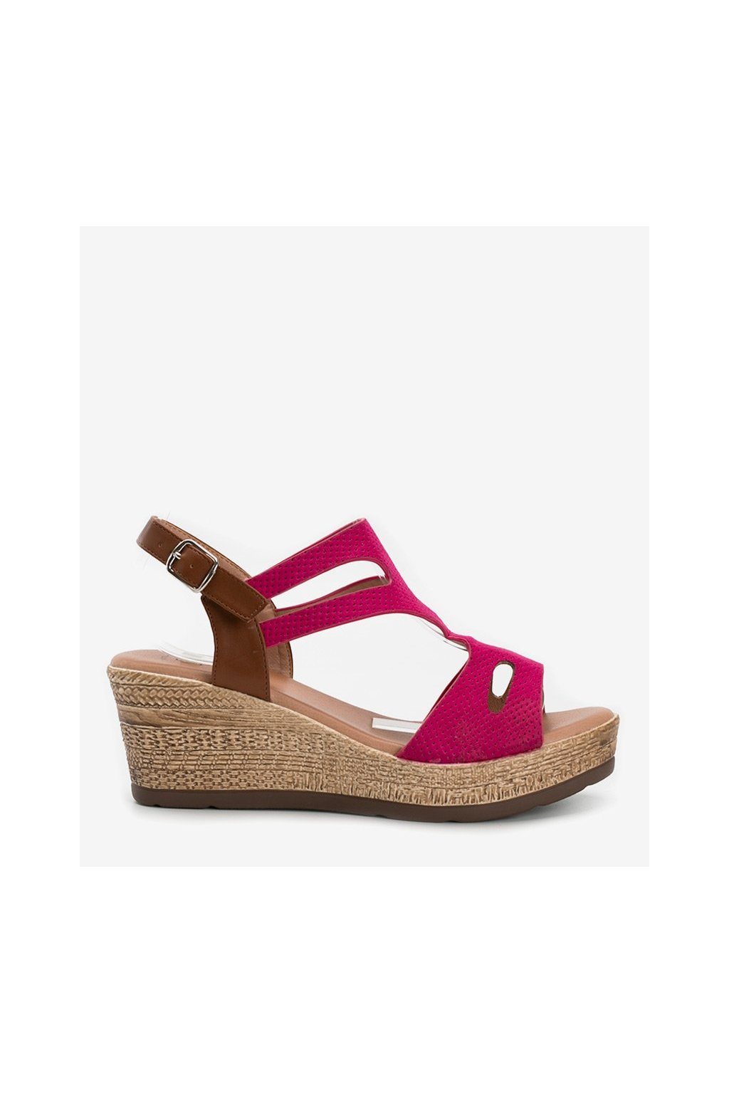 Dámske topánky sandále ružové kód 9R191 - GM