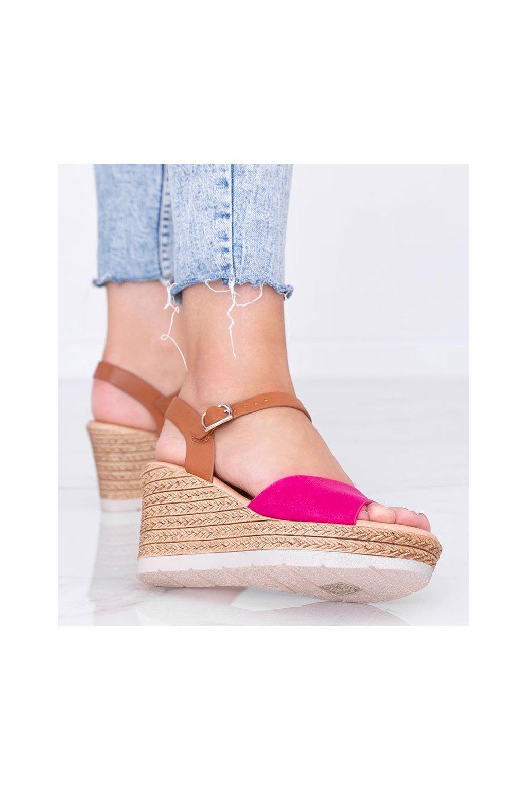 Dámske topánky sandále ružové kód 9R151 - GM