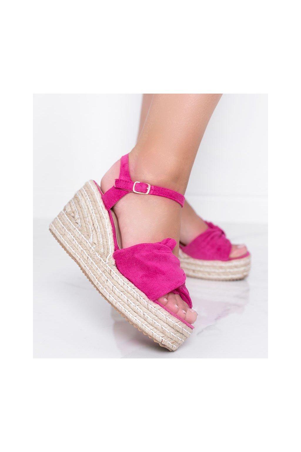 Dámske topánky sandále ružové kód WH-3K63-19 - GM