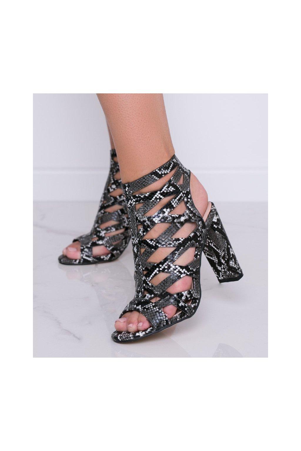 Dámske topánky sandále čierne kód AT-0666-L - GM