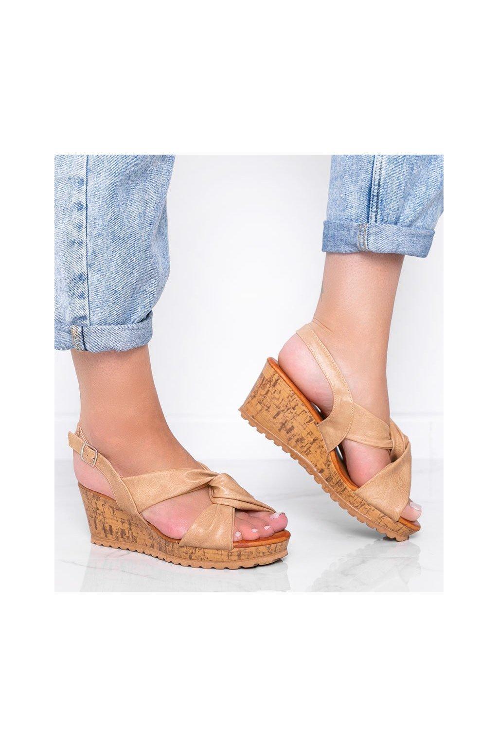 Dámske topánky sandále hnedé kód S060100 - GM