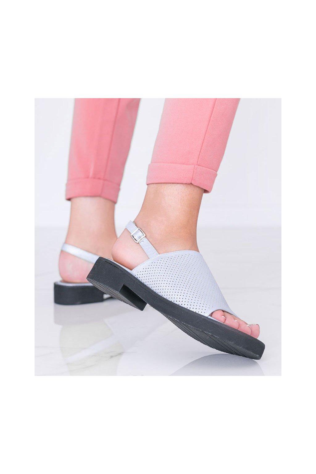 Dámske topánky sandále modré kód W18-6671 - GM