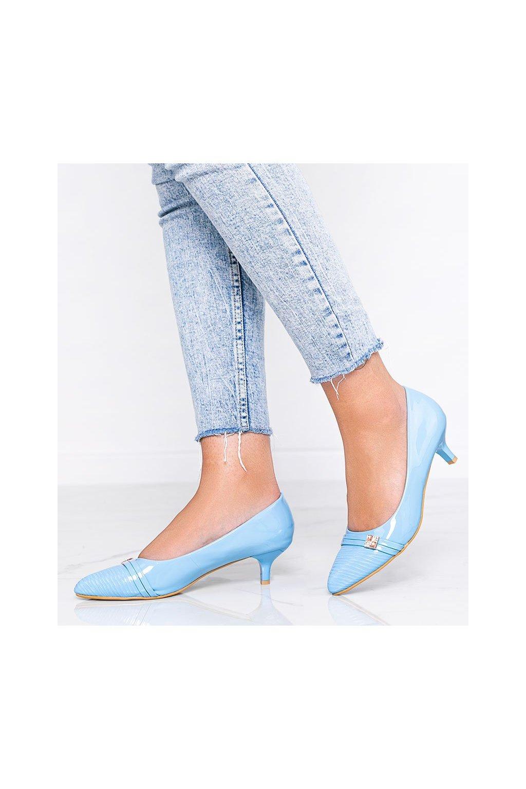 Dámske topánky lodičky modré kód OS-3 - GM