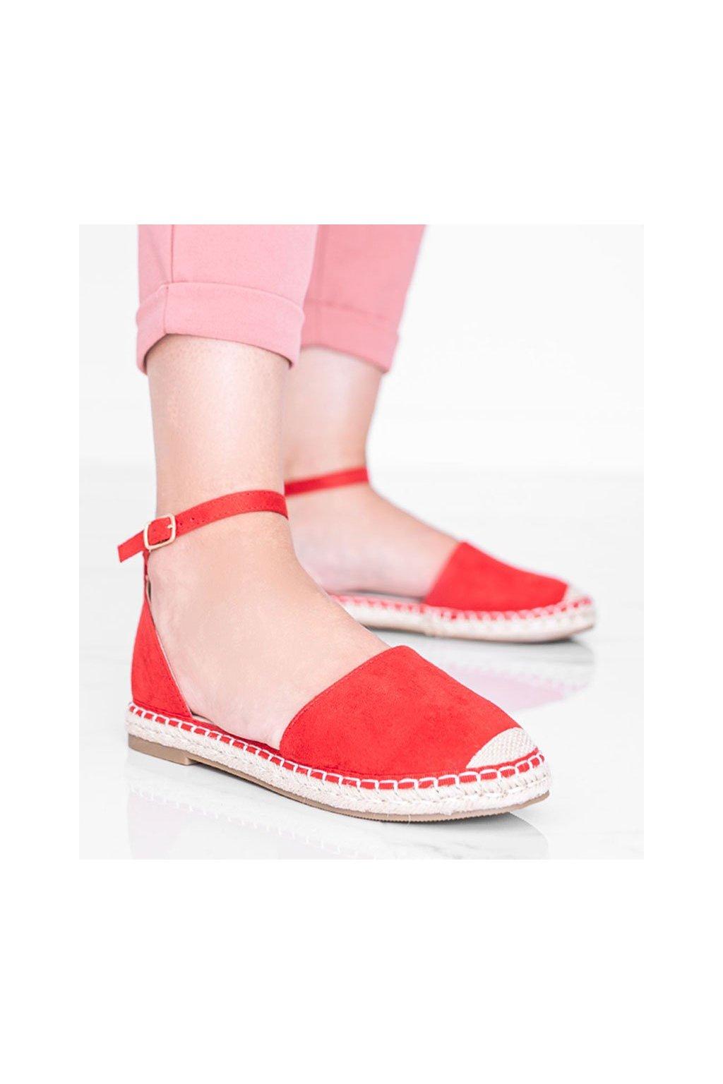 Dámske topánky sandále červené kód LL6398 - GM