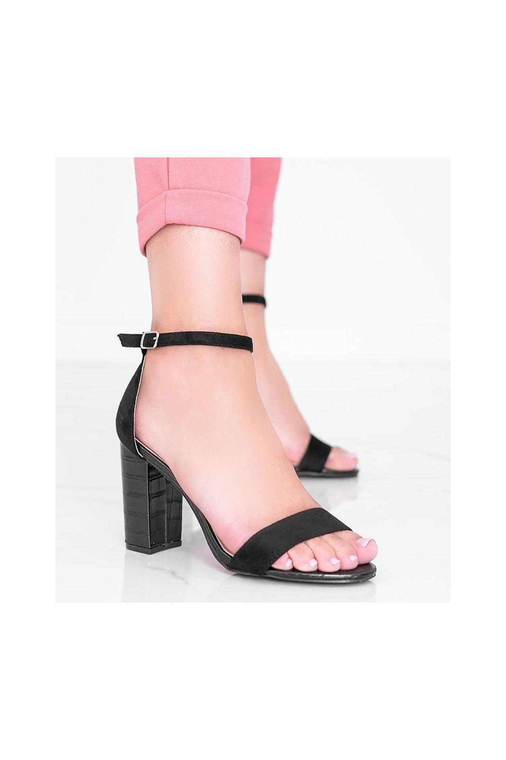 Dámske topánky sandále čierne kód 223-SA-2 - GM