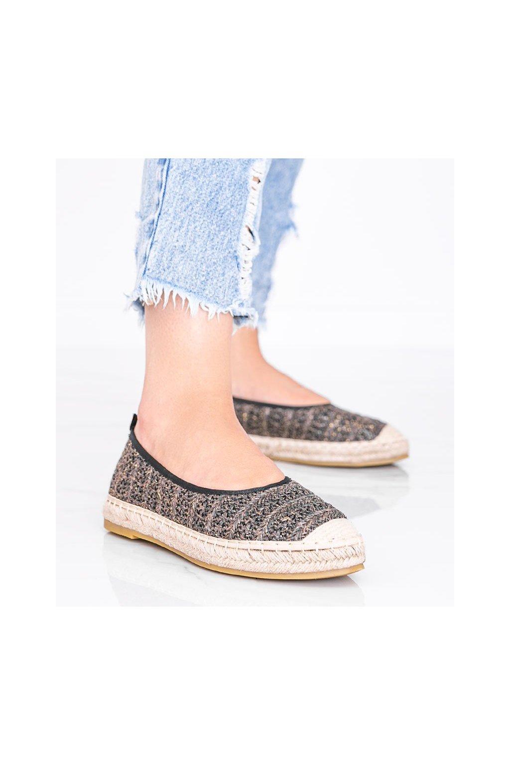Dámske topánky espadrilky hnedé kód M-519 - GM