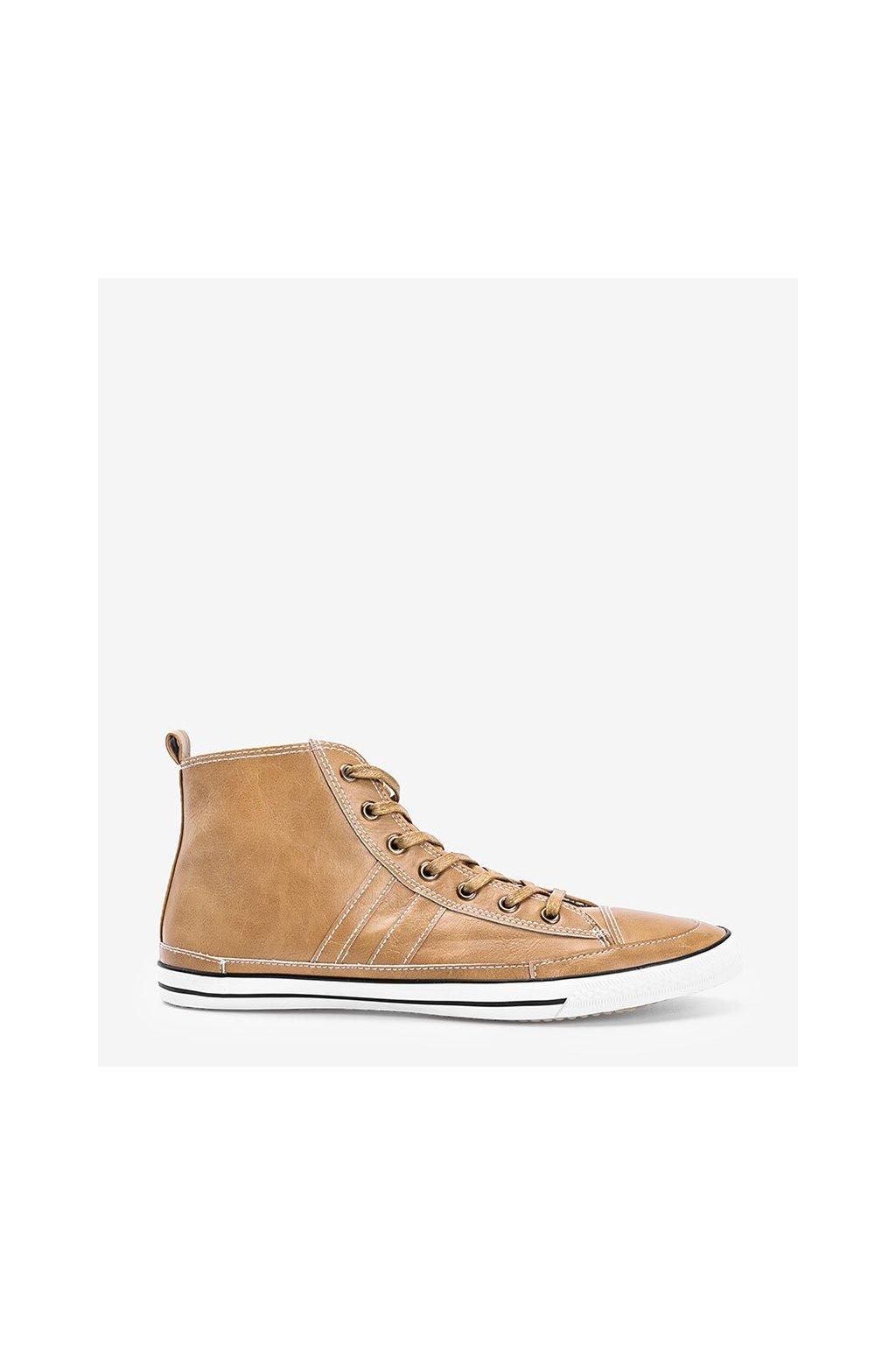 Pánske topánky tenisky hnedé kód 003 - GM