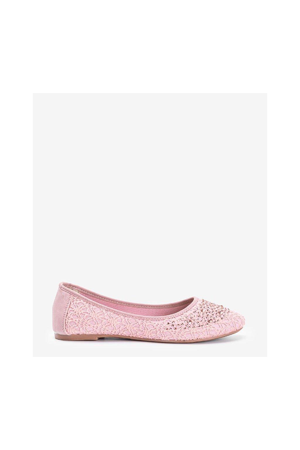Dámske baleríny ružové kód T031-1 - GM
