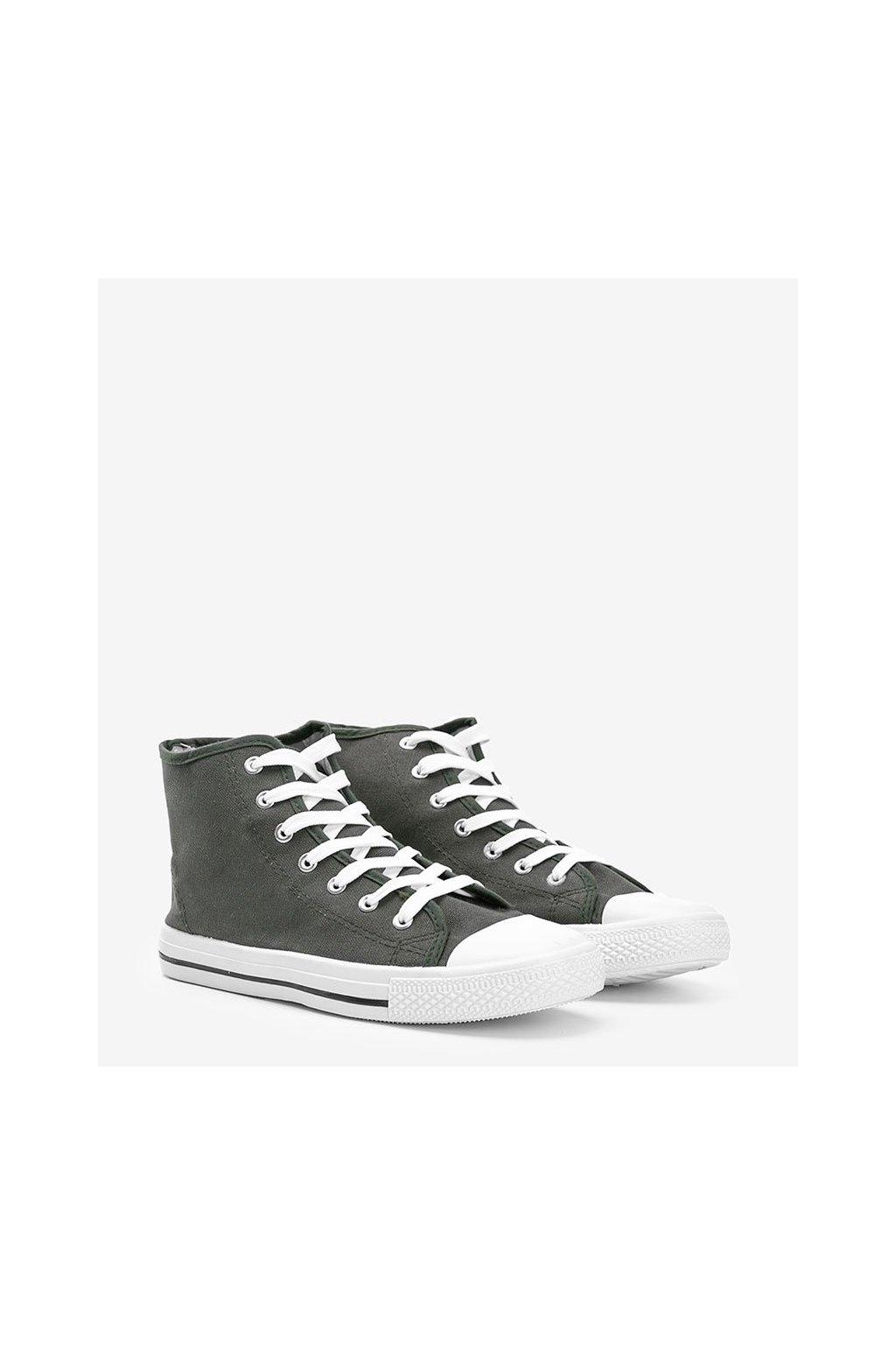 Pánske topánky tenisky zelené kód B082-M - GM