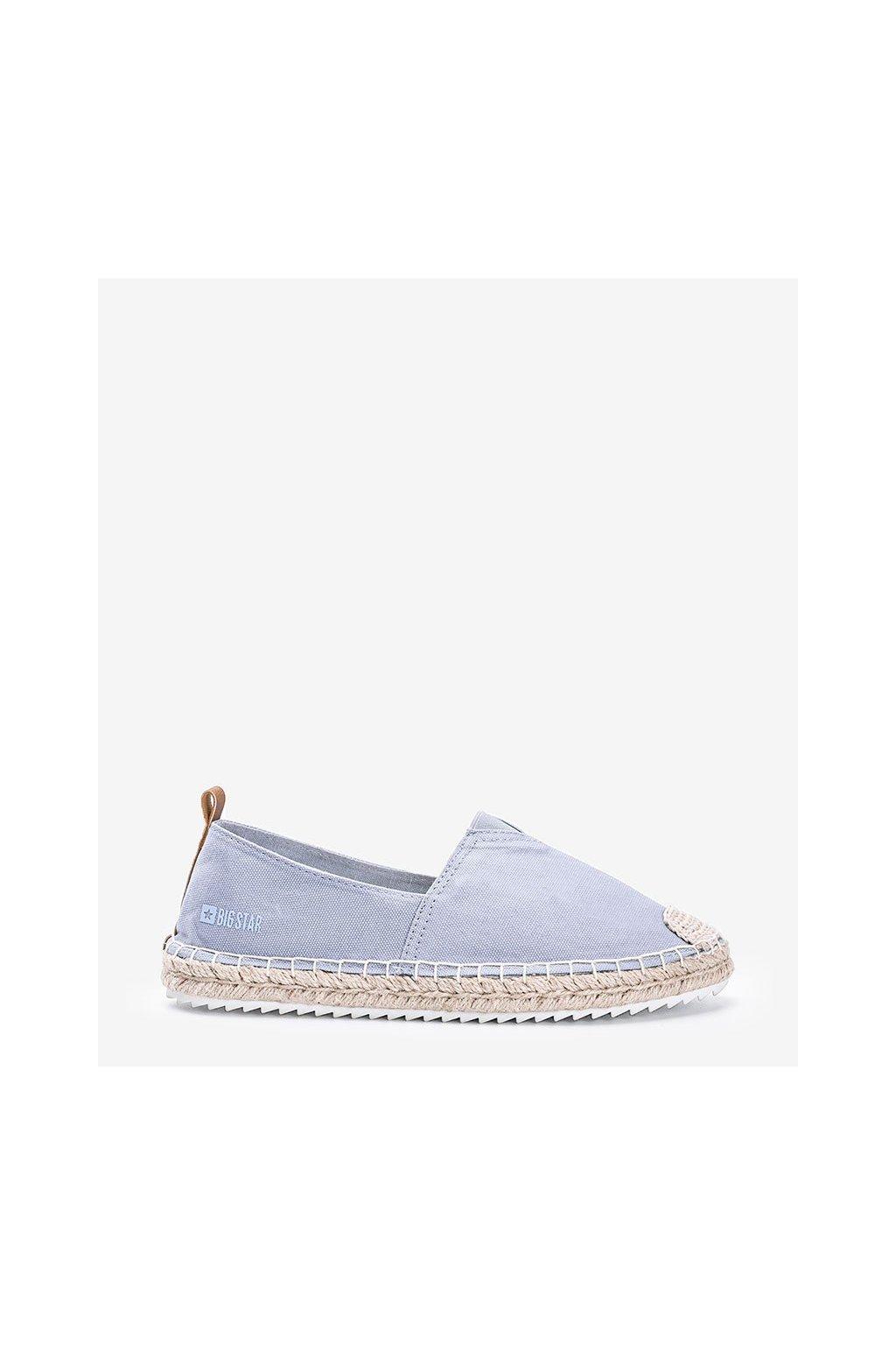 Dámske topánky espadrilky modré kód HH274497 - GM