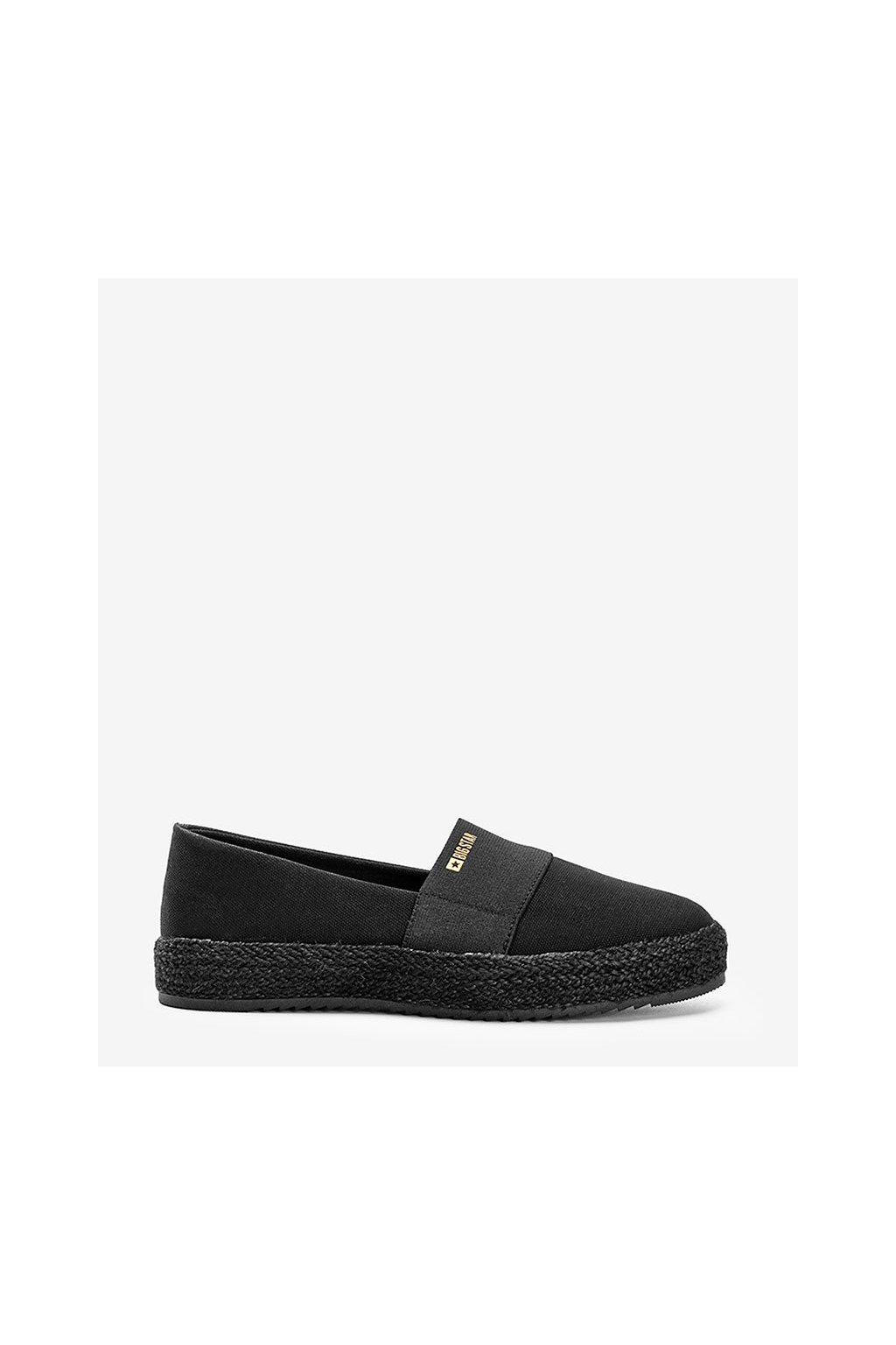 Dámske topánky espadrilky čierne kód HH274482 - GM