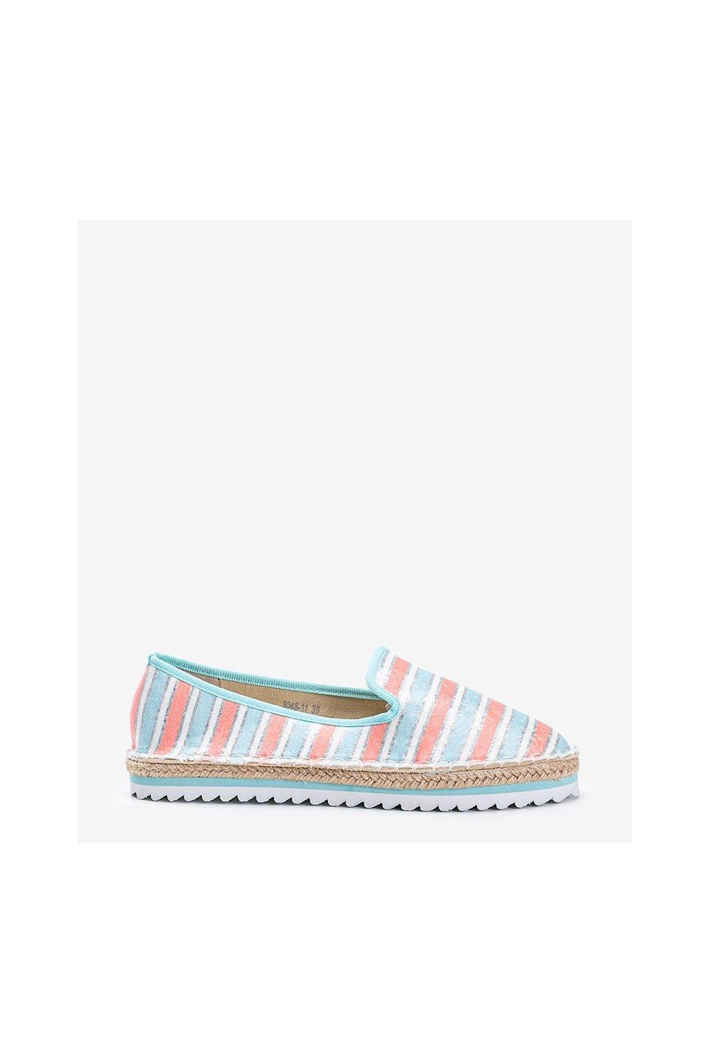 Dámske topánky espadrilky ružové kód 3048-11 - GM