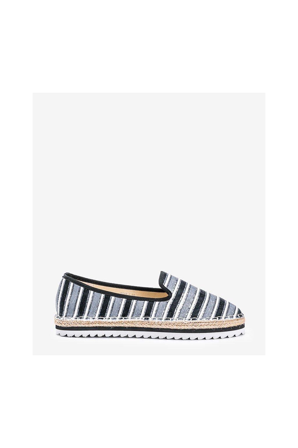 Dámske topánky espadrilky sivé kód 3048-1 - GM