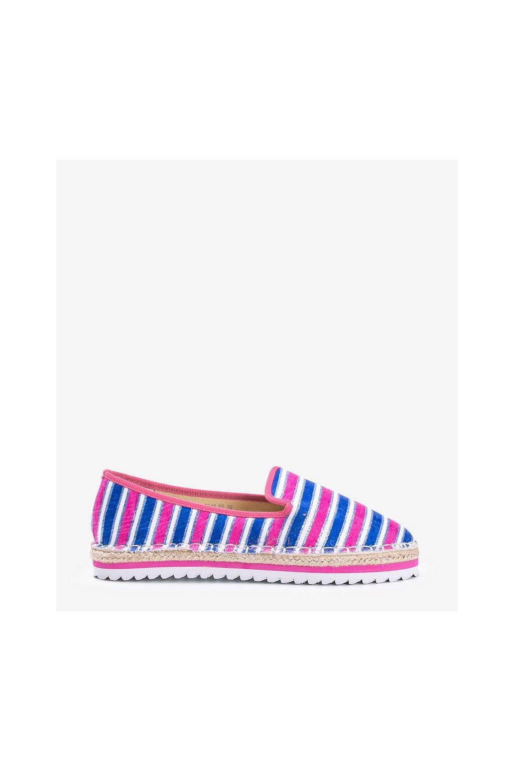 Dámske topánky espadrilky modré kód 3048-23 - GM