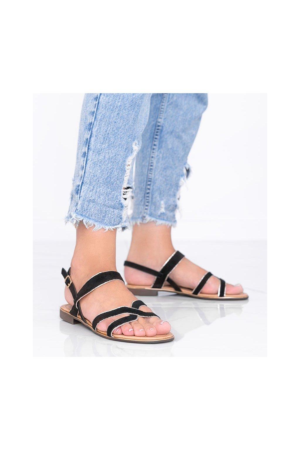 Dámske topánky sandále čierne kód H8-177 - GM
