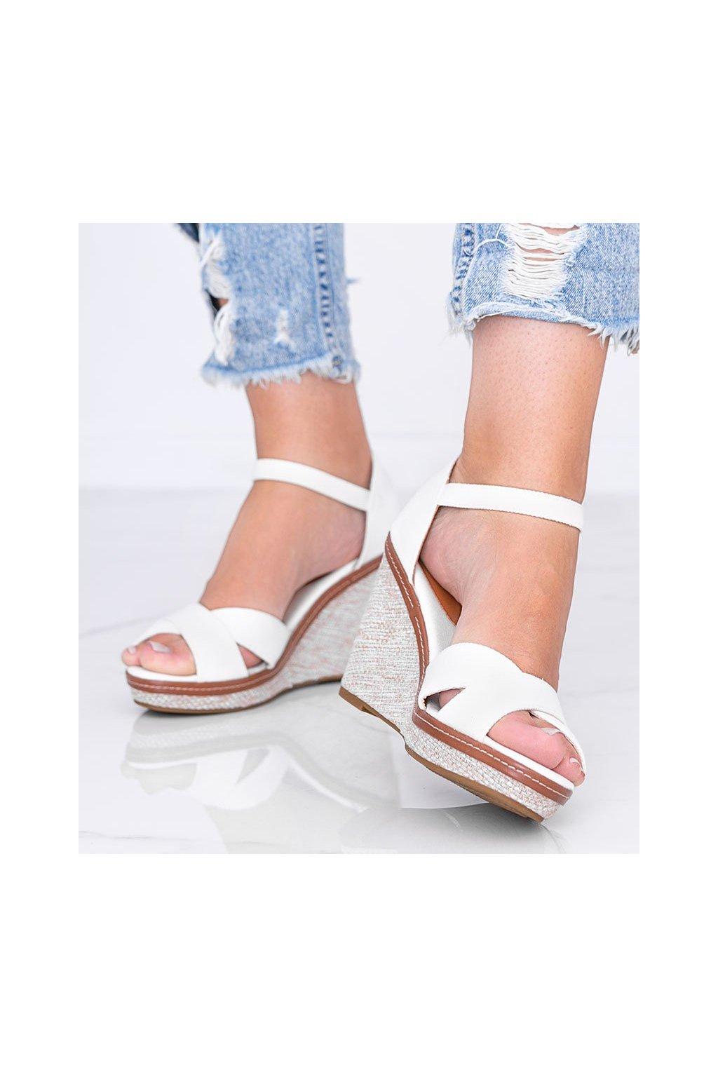Dámske topánky sandále biele kód BL289 - GM