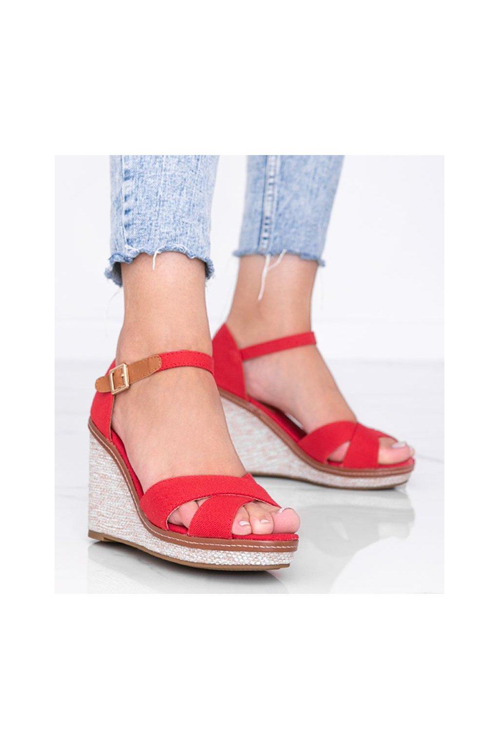 Dámske topánky sandále červené kód BL289 - GM