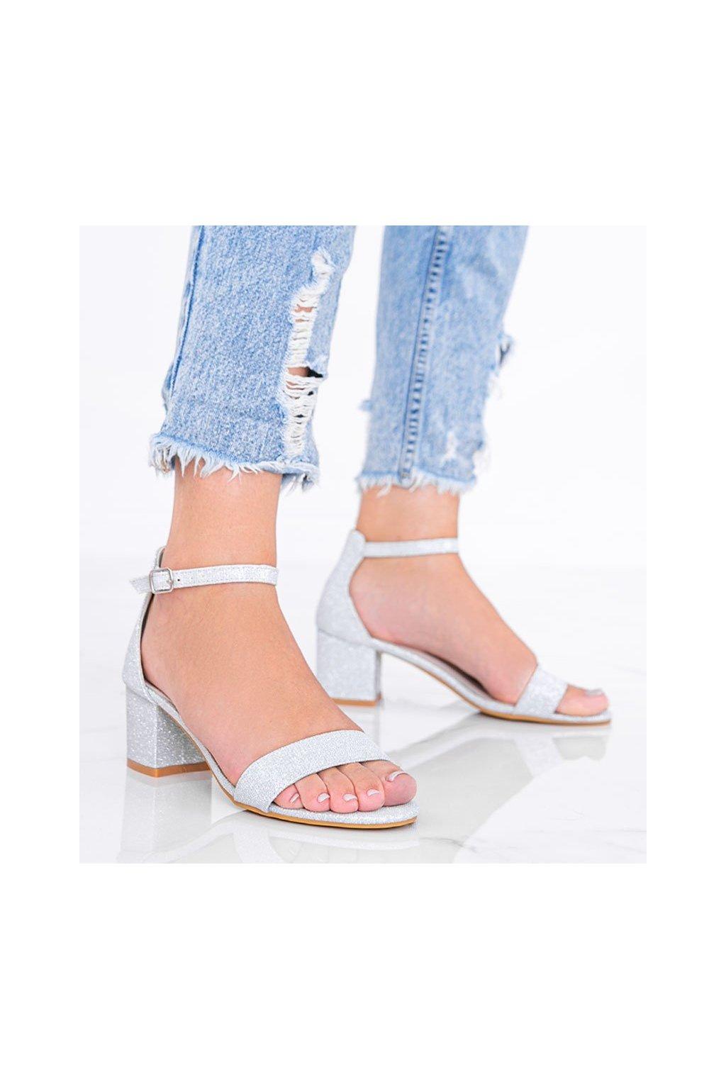 Dámske topánky sandále sivé kód LEI360-A - GM