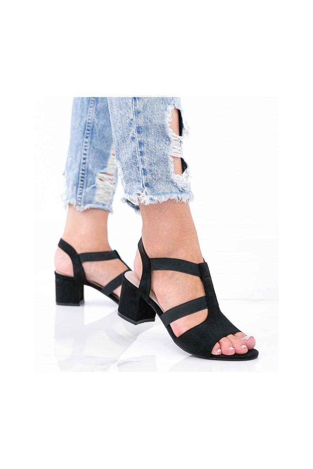 Dámske topánky sandále čierne kód LEI501-A - GM