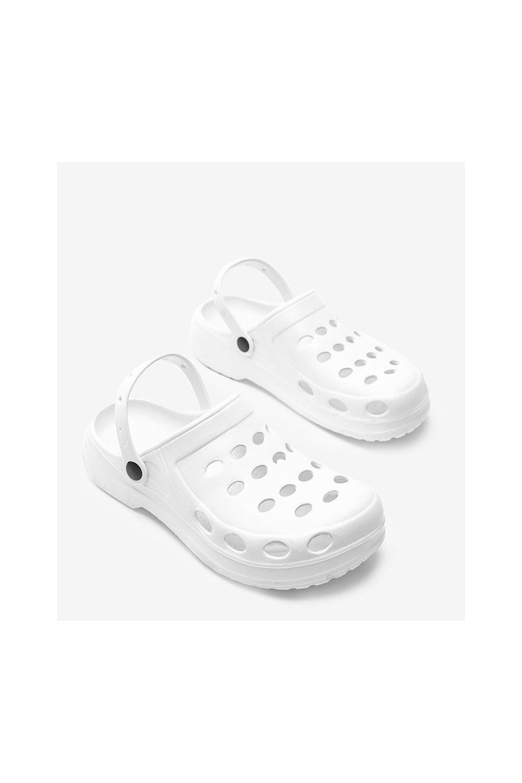 Pánske šľapky biele kód A001 - GM