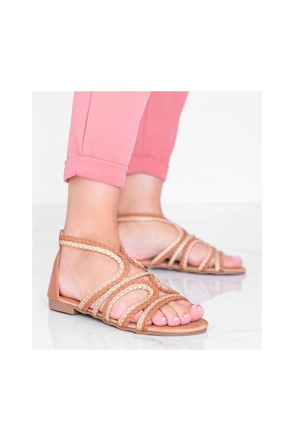 Dámske topánky sandále hnedé kód S060153 - GM