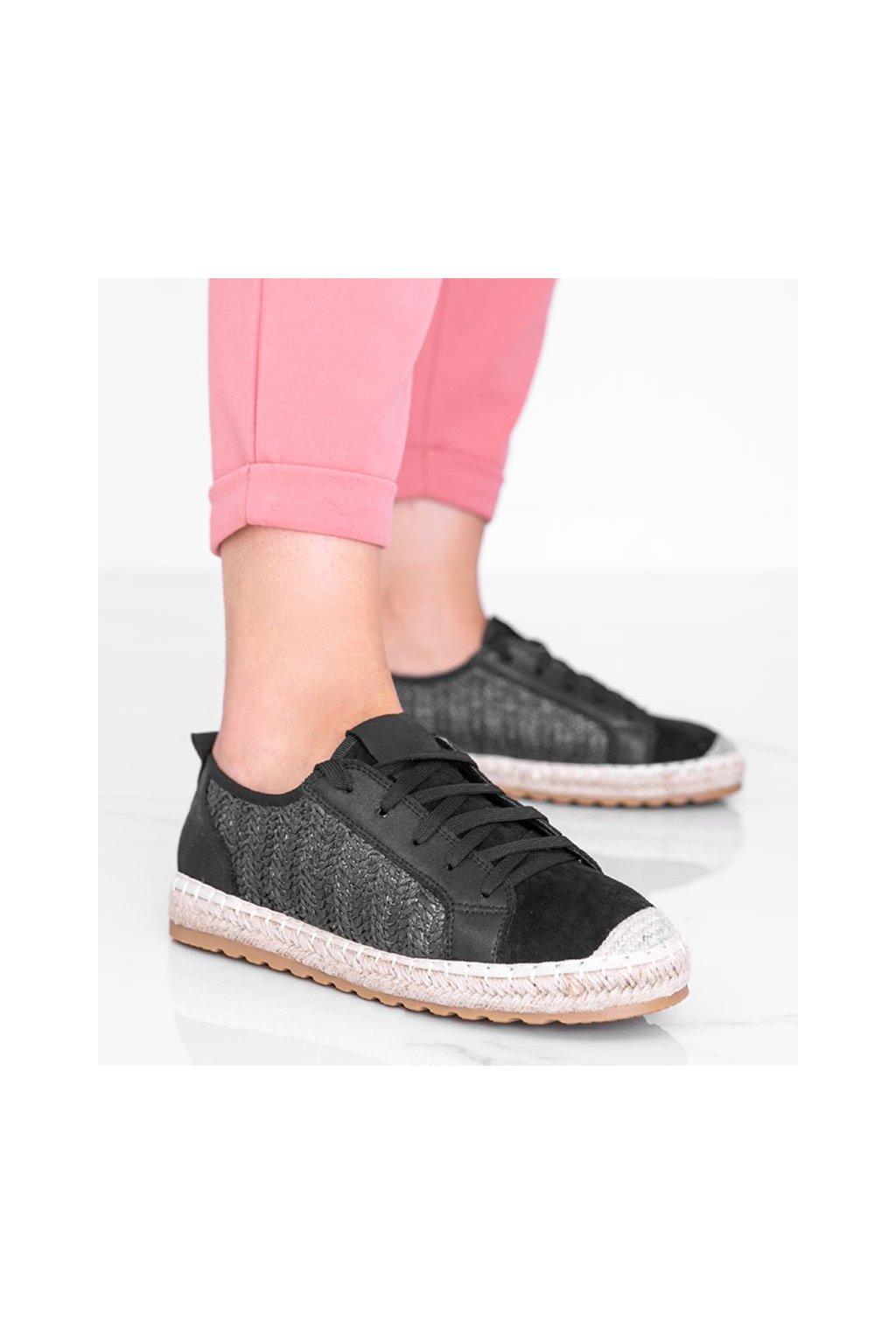 Dámske topánky espadrilky čierne kód CD-8 - GM