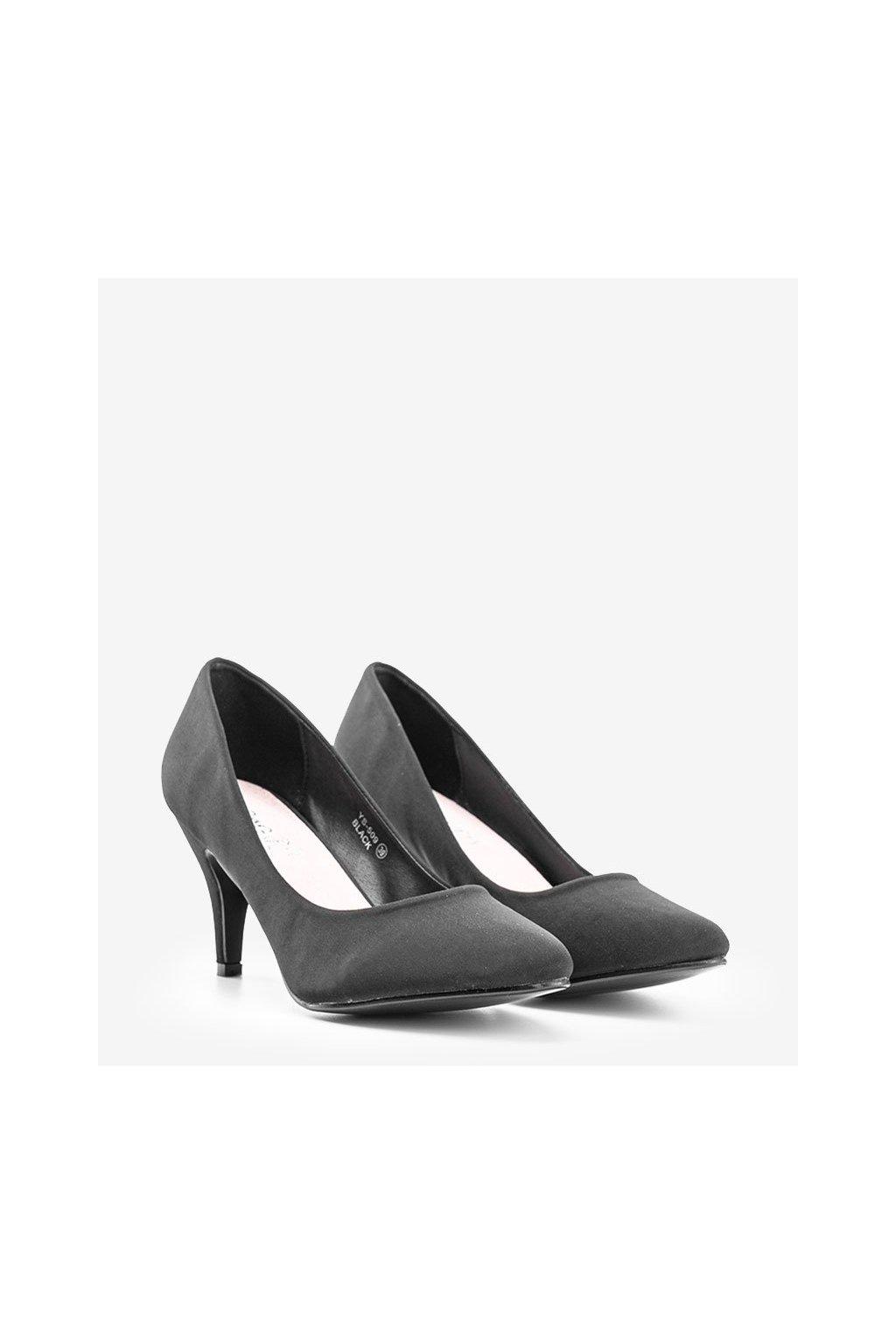 Dámske topánky lodičky čierne kód YS-509 - GM