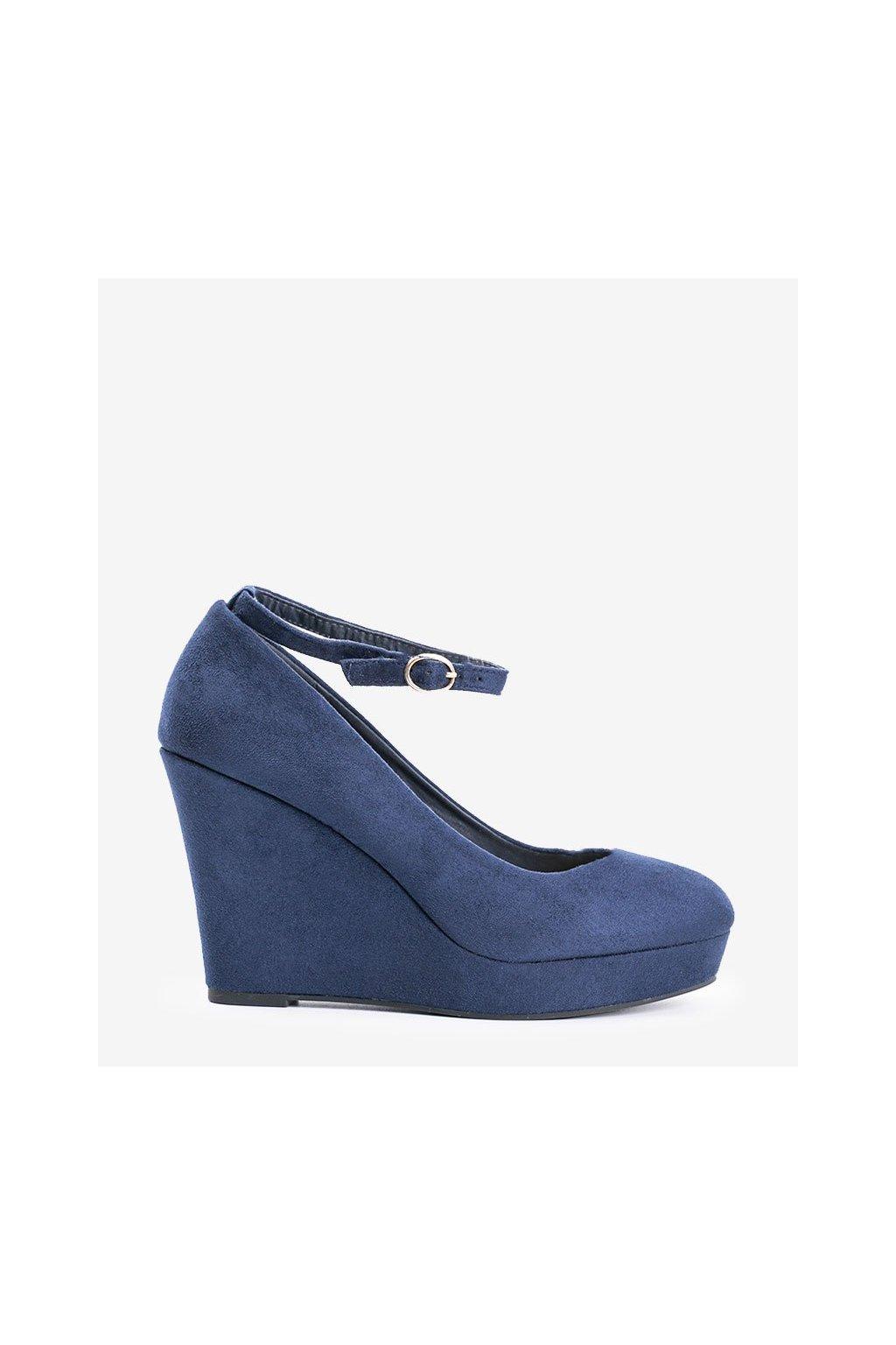 Dámske topánky lodičky modré kód LEI-109 - GM