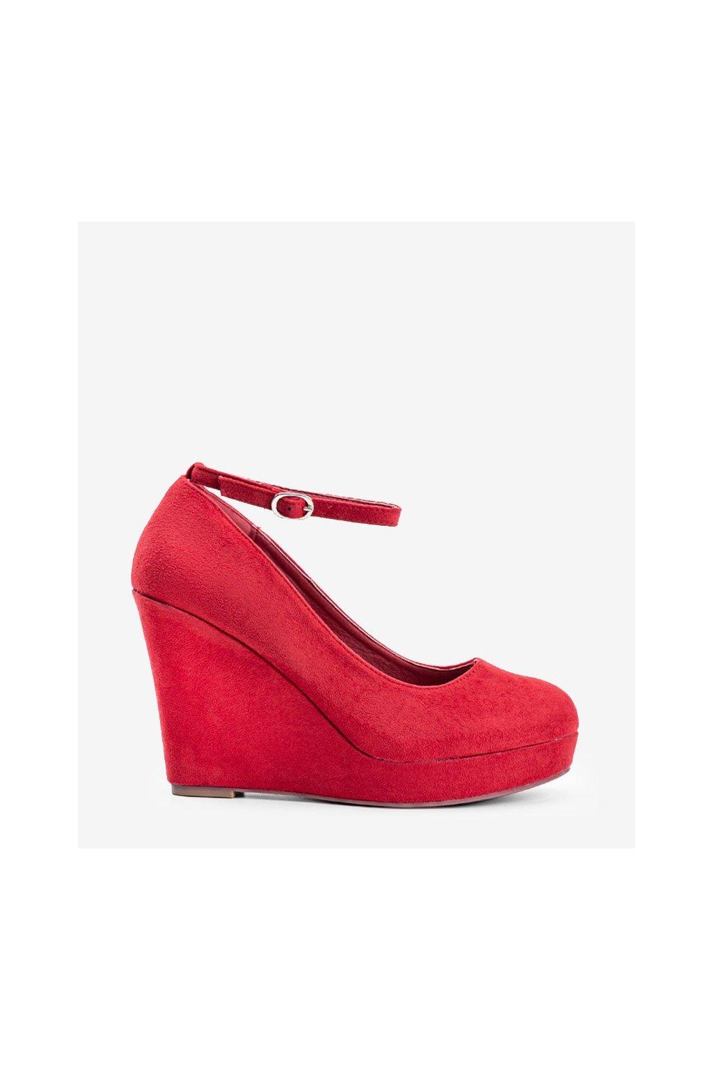 Dámske topánky lodičky červené kód LEI-109 - GM