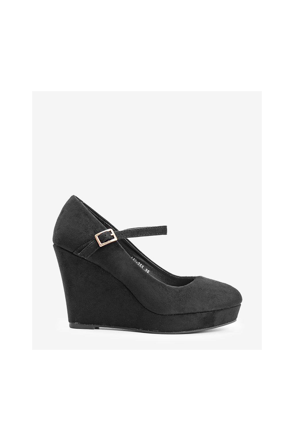 Dámske topánky lodičky čierne kód LEI-255 - GM