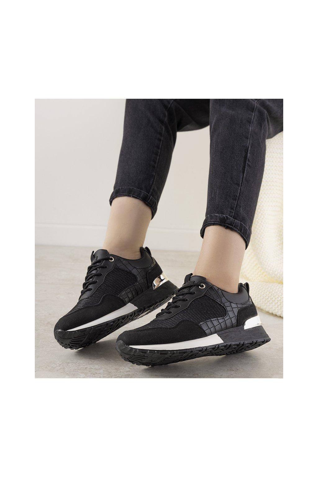 Dámske topánky tenisky čierne kód YL-52 - GM