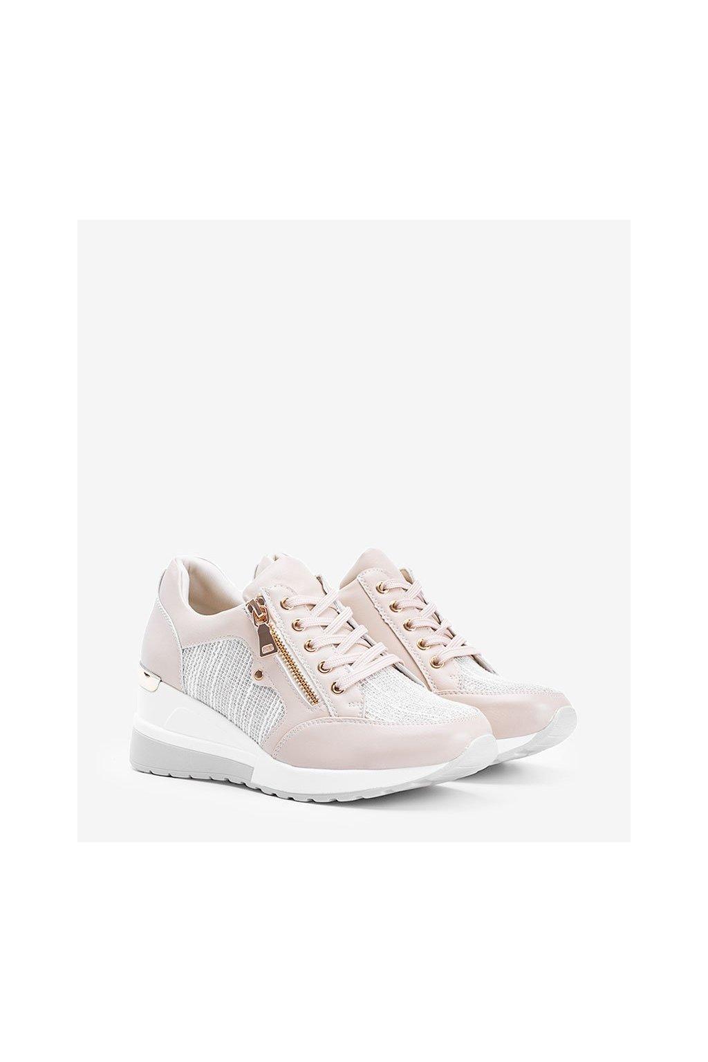 Dámske topánky tenisky hnedé kód Y9521 - GM