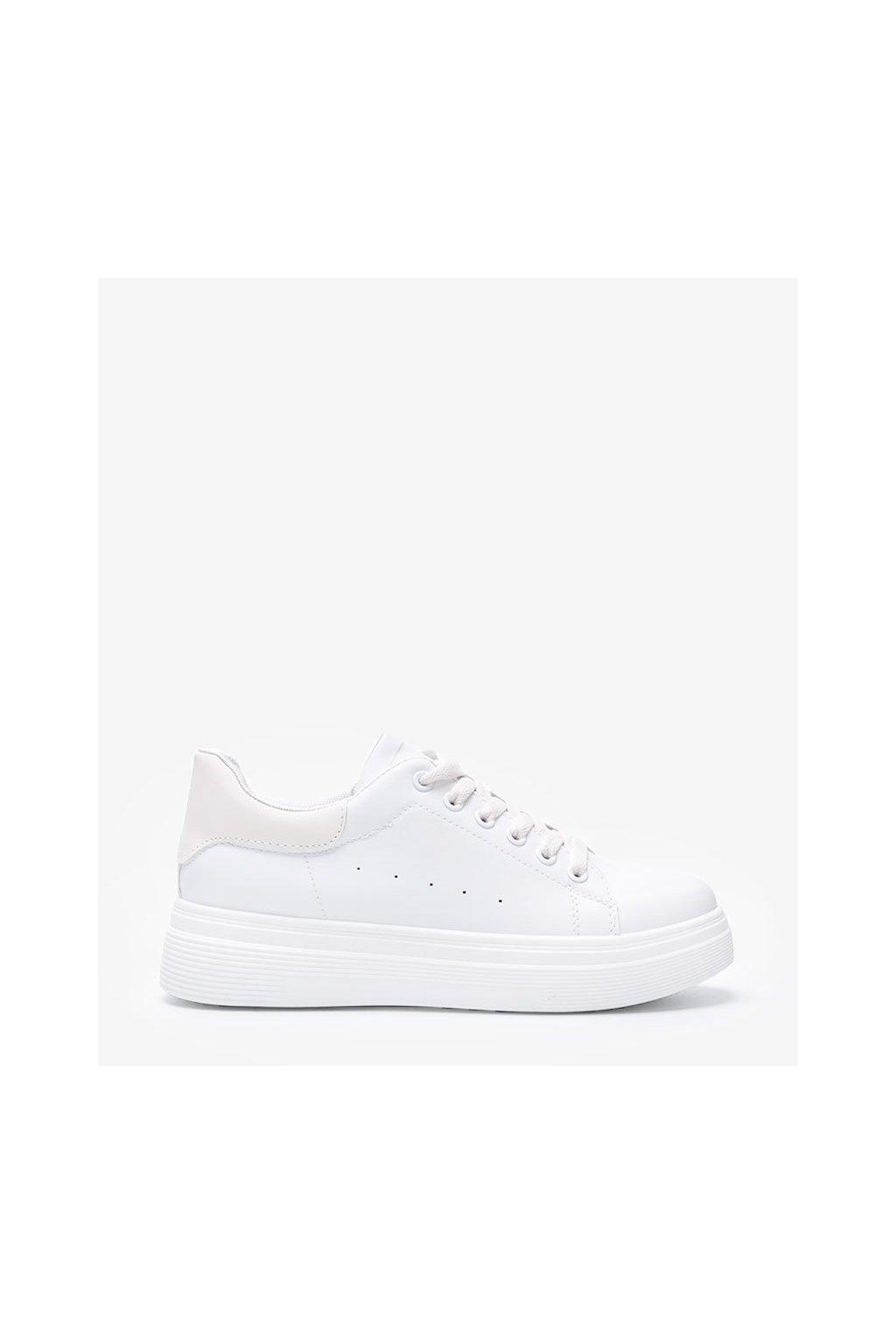 Dámske topánky tenisky biele kód 8112 - GM