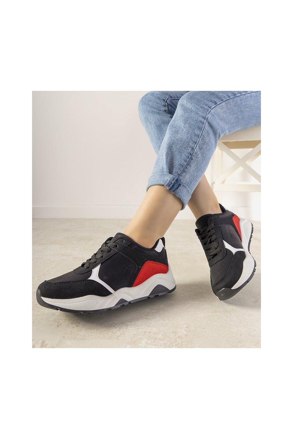Dámske topánky tenisky čierne kód E2021 - GM
